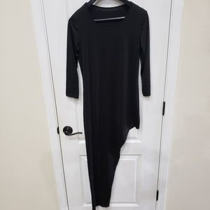 Dresses & Skirts - Black Bodycon High Low Dress